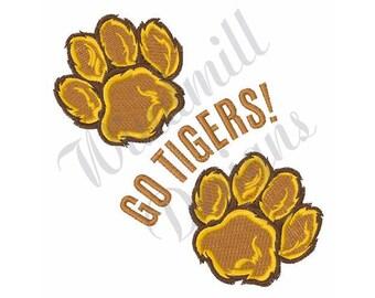 Go Tigers - Machine Embroidery Design