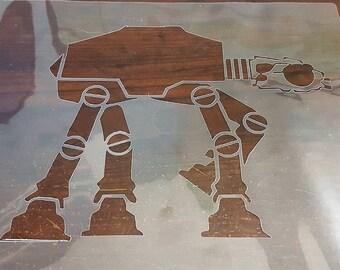 Large Star Wars AT-AT Stencil handcut