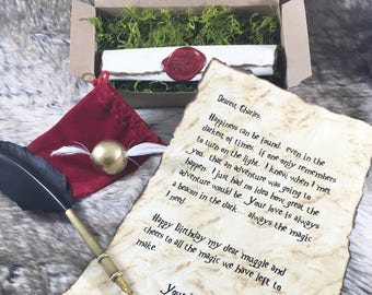 Harry Potter - Scroll - Birthday - Love Letter - Scroll - Snitch  - Announcement - Card - Anniversary