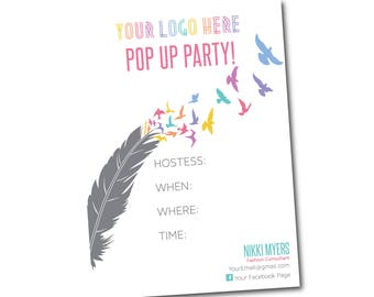 Pop Up Party Invite Customized size 5x7- digital file