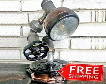 Industrial Lighting Steampunk Lamp Etsy gifts Edison Light Vintage Light Pipe Lamp Bedside Lamp Rustic Lighting Loft light Nightstand lights