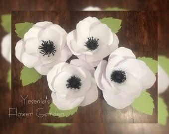 Anemone Paper Flowers