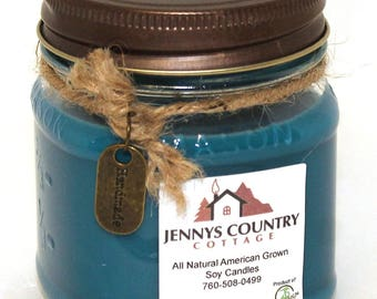 Beach Linen Scented Soy Candle - 8 Oz. Mason Jar
