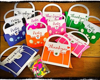 Children's Birthday Party Pack - 12pk Handbag Invitations, Favours and Scatters