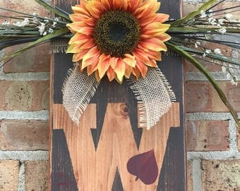 6' Fall Sunflower Welcome Sign