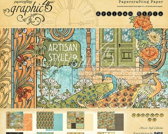 Last One ***** Graphic 45 - Artisan Style - 12 x 12 Paper Pad