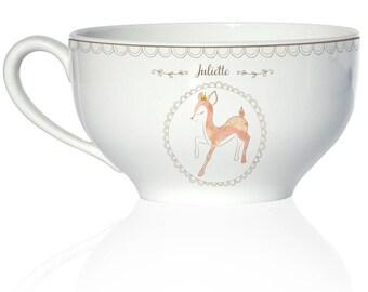 Child porcelain deep Bowl - model Fawn