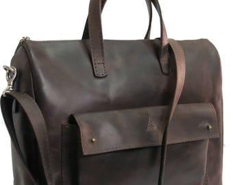 MENS LEATHER HANDBAG, Brown leather shoulder bag, Leather bag for men, Large leather bag for men, Handbags men, Free shipping mens handbags
