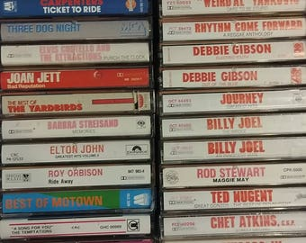 Cassette Tapes List #1--80's & 90's Music,Soundtracks