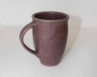 ceramic mug, mauve mug, coffee mug, handmade ceramic mug,