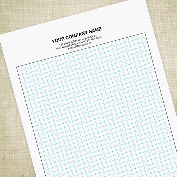 Graph Paper Pdf  Editable Custom Template Digital File