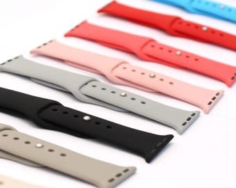 Apple Watch Silicone Bands Color Straps Replacement Bands 38mm 42mm 38 42