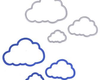 Metal/Cutting dies die set 3 piece set clouds