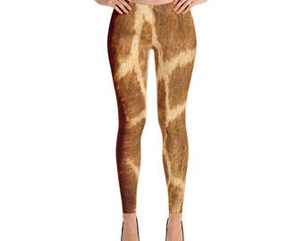 Giraffe leggings, Adult Giraffe leggings, Giraffe Costume, Giraffe animal print leggings