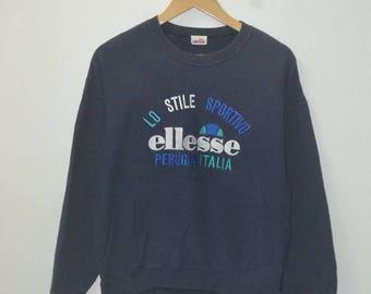Vintage Ellesse perugia italia sweatshirt 80s 90s