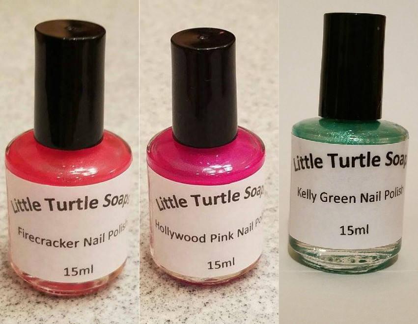 Firecracker Nail Polish, Hollywood Pink Nail Polish, Kelly Green ...