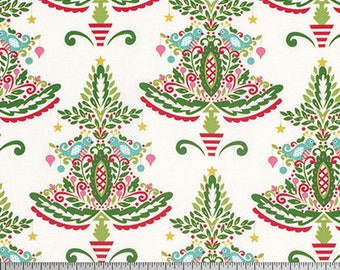 Partridge-White, Merry Mistletoe Collection, Dena Designs, Free Spirit Fabrics, Quilting Cotton, Holiday Fabric, Christmas Fabric
