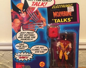 ToyBiz Marvel X-Men Wolverine Talks Electronic Action Figure, MOC, 1991!
