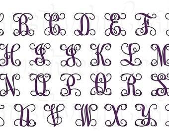 Single Letter Decal, Single Letter Monogram, Vine Monogram Decal, Letter Vinyl Decal, Single Initial Decal, Monogram Sticker, Mailbox Letter