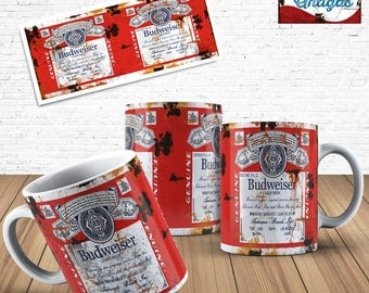 Budweiser Old Can Template for Mug