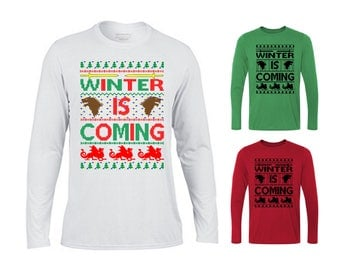 Winter Is Coming Christmas Sweater, Ugly Xmas Sweater, Ugly Christmas Sweater, Funny Christmas Sweater, Game of Thrones, Christmas Sweater