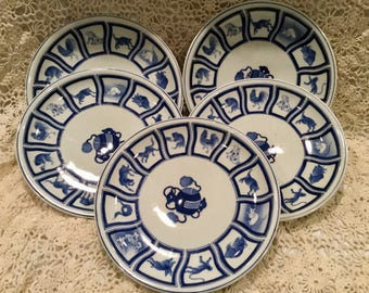 Retro Chinese Astrology Plates