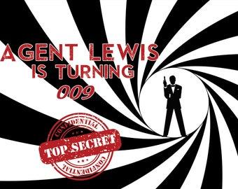 Secret Agent Spy Birthday Party Banner , Top Secret mission Birthday poster , Kids Detective party , Spy Party, Kids Spy Birthday ;10000316