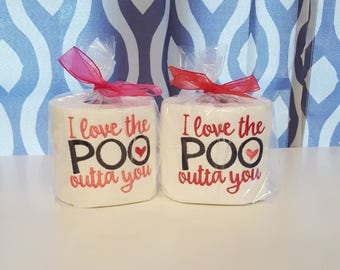 embroidered toilet paper roll valentines day gift gift for her gifts under 10