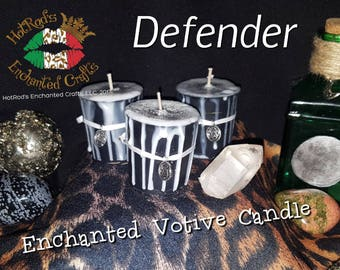 Defender ~ Enchanted Votive Candle