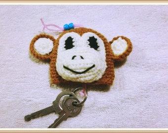 Brown monkey keychain