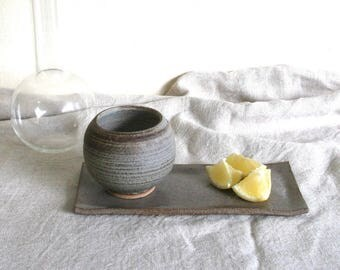 Ceramic Round Yunomi Cup 260ml - Grey