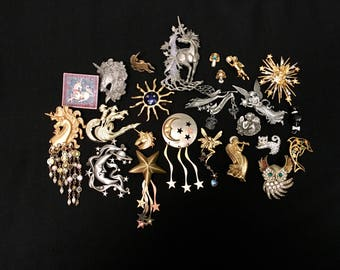 Wholesale Lot-The Uber Collection: Whimsical Assorted Brooch and Pin Lot