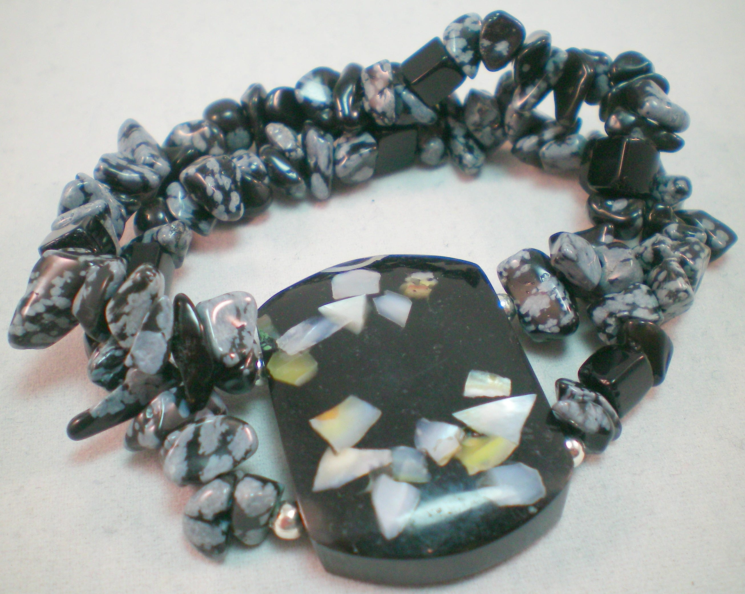 necklace bracelets wrap bracelet stetchy around black stretchy crystal stretch beaded free product delivery