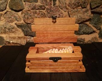 Wooden herb box/ Wood tea storage box/ Tea bag organizer box/ Wood tea bin/ Wooden tea container/ Tea display box