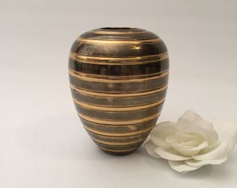 Two Toned Brass Beehive Vase