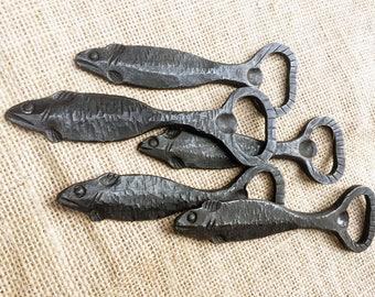 Fish bottle opener