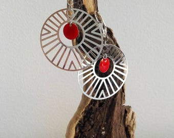 Red and silver hoops