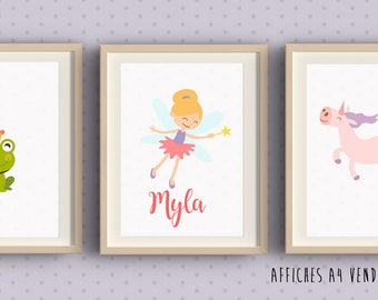 3 posters to frame for child's room - girl room