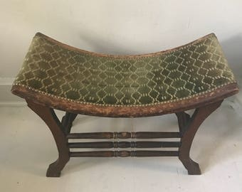 antique french scoop bench
