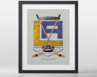 La Kings-inspired Hockey Art Print