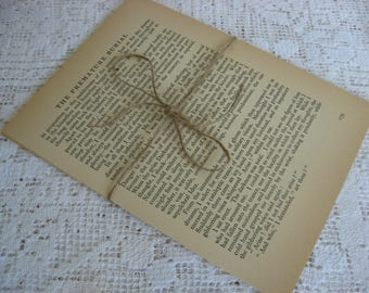 Book Pages,Edgar Allen Poe,Vintage Paper,Paper Pages,Craft Paper,Mixed Media,Collage Paper,Art Supply