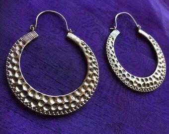 Hammered effect earrings