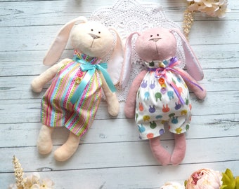 Bunny plush  Bunny Rabbit Personalized Baby gifts girls Kids toys Stuffed toy Gift sisters Rag doll Sisters girlfriends Gift for girls