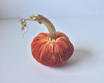 Orange Silk Velvet Pumpkin