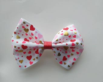 Valentine pinch bow, Valentine's hair bows, baby hair bow, pink hair bow, heart hair bows, Valentine hair bow, love hair bow, glitter bow