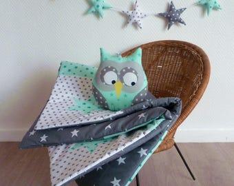 OWL Mint patchwork blanket
