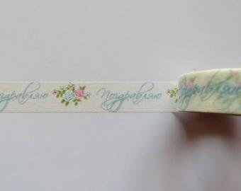 Washi Tape/Masking Tape/ribbon flowers scrapbooking adhesive.