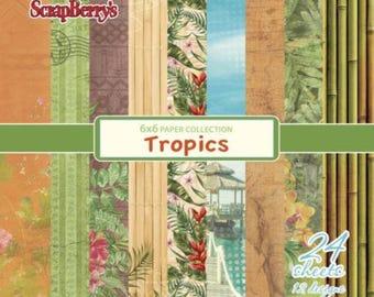 24 papers 15.2 x 15.2 cm SCRAPBERRY's TROPICS
