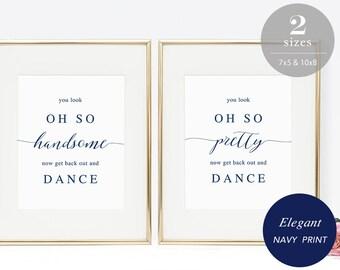navy wedding etsy Cute Wedding Signs Vintage Restroom Signs Printable