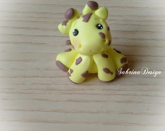 Giraffe favor,  baptism favors, birthday favors, communion animals, favors animals, polymer clay favors, boys favors